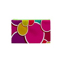 Paint Circle Red Pink Yellow Blue Green Polka Cosmetic Bag (xs) by Mariart