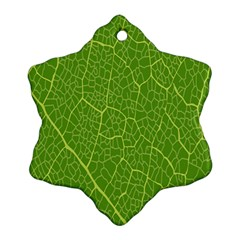 Green Leaf Line Ornament (snowflake)