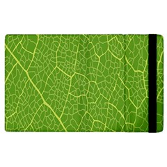 Green Leaf Line Apple Ipad 2 Flip Case by Mariart