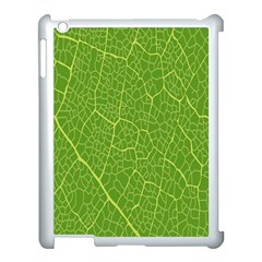 Green Leaf Line Apple Ipad 3/4 Case (white) by Mariart