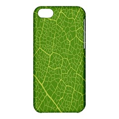 Green Leaf Line Apple Iphone 5c Hardshell Case by Mariart
