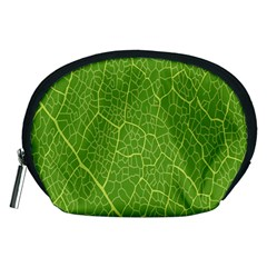 Green Leaf Line Accessory Pouches (medium)  by Mariart