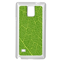 Green Leaf Line Samsung Galaxy Note 4 Case (white) by Mariart