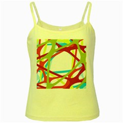 Nets Network Green Red Blue Line Yellow Spaghetti Tank