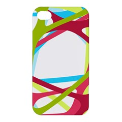 Nets Network Green Red Blue Line Apple Iphone 4/4s Hardshell Case by Mariart