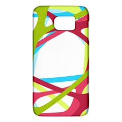 Nets Network Green Red Blue Line Galaxy S6 by Mariart