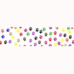 Paw Prints Dog Cat Color Rainbow Animals Large Bar Mats by Mariart