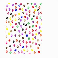 Paw Prints Dog Cat Color Rainbow Animals Large Garden Flag (two Sides) by Mariart