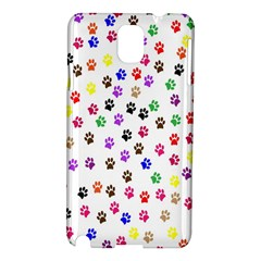 Paw Prints Dog Cat Color Rainbow Animals Samsung Galaxy Note 3 N9005 Hardshell Case by Mariart