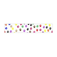 Paw Prints Dog Cat Color Rainbow Animals Flano Scarf (mini) by Mariart