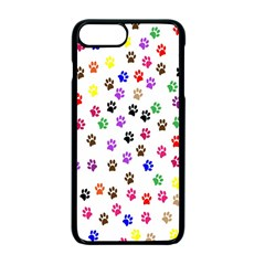 Paw Prints Dog Cat Color Rainbow Animals Apple Iphone 7 Plus Seamless Case (black) by Mariart
