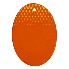 Orange Star Space Ornament (oval) by Mariart