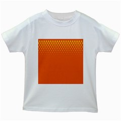 Orange Star Space Kids White T Shirts by Mariart