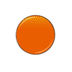 Orange Star Space Hat Clip Ball Marker (4 Pack) by Mariart