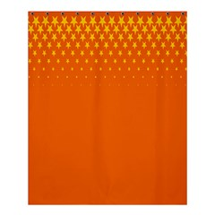 Orange Star Space Shower Curtain 60  X 72  (medium)  by Mariart