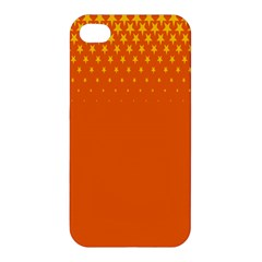 Orange Star Space Apple Iphone 4/4s Premium Hardshell Case by Mariart