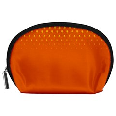 Orange Star Space Accessory Pouches (large)  by Mariart