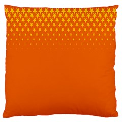 Orange Star Space Large Flano Cushion Case (two Sides) by Mariart