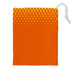Orange Star Space Drawstring Pouches (xxl) by Mariart