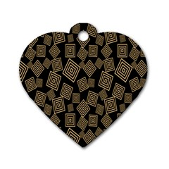 Magic Sleight Plaid Dog Tag Heart (two Sides) by Mariart