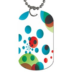 Polka Dot Circle Red Blue Green Dog Tag (one Side) by Mariart