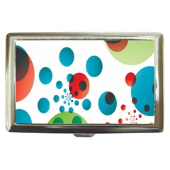 Polka Dot Circle Red Blue Green Cigarette Money Cases by Mariart