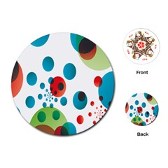 Polka Dot Circle Red Blue Green Playing Cards (round)  by Mariart