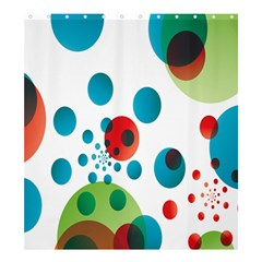Polka Dot Circle Red Blue Green Shower Curtain 66  X 72  (large)  by Mariart