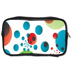 Polka Dot Circle Red Blue Green Toiletries Bags by Mariart