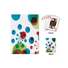 Polka Dot Circle Red Blue Green Playing Cards (mini)  by Mariart