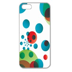 Polka Dot Circle Red Blue Green Apple Seamless Iphone 5 Case (clear) by Mariart