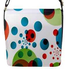 Polka Dot Circle Red Blue Green Flap Messenger Bag (s) by Mariart