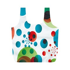 Polka Dot Circle Red Blue Green Full Print Recycle Bags (m)  by Mariart