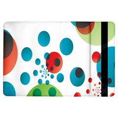 Polka Dot Circle Red Blue Green Ipad Air Flip by Mariart
