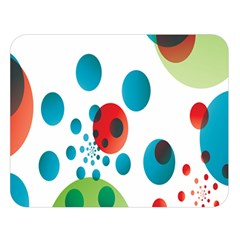Polka Dot Circle Red Blue Green Double Sided Flano Blanket (large)  by Mariart