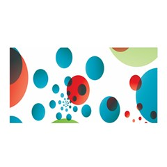 Polka Dot Circle Red Blue Green Satin Wrap by Mariart