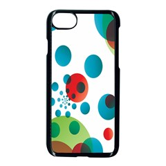 Polka Dot Circle Red Blue Green Apple Iphone 7 Seamless Case (black) by Mariart