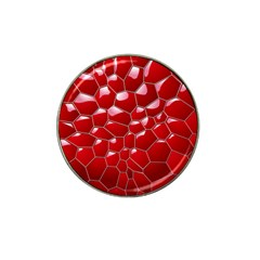 Plaid Iron Red Line Light Hat Clip Ball Marker by Mariart