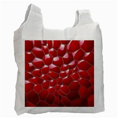 Plaid Iron Red Line Light Recycle Bag (one Side) by Mariart