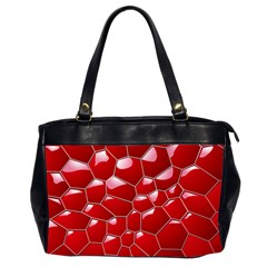 Plaid Iron Red Line Light Office Handbags (2 Sides)  by Mariart