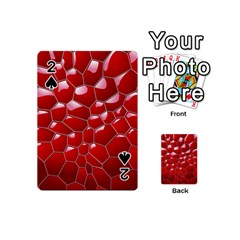 Plaid Iron Red Line Light Playing Cards 54 (mini)  by Mariart
