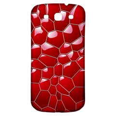 Plaid Iron Red Line Light Samsung Galaxy S3 S Iii Classic Hardshell Back Case by Mariart