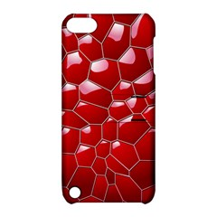 Plaid Iron Red Line Light Apple Ipod Touch 5 Hardshell Case With Stand by Mariart
