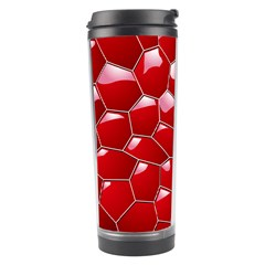 Plaid Iron Red Line Light Travel Tumbler by Mariart