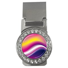 Rainbow Space Red Pink Purple Blue Yellow White Star Money Clips (cz)  by Mariart
