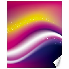 Rainbow Space Red Pink Purple Blue Yellow White Star Canvas 16  X 20   by Mariart