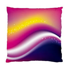 Rainbow Space Red Pink Purple Blue Yellow White Star Standard Cushion Case (one Side) by Mariart
