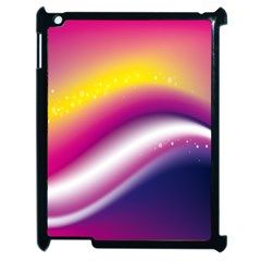 Rainbow Space Red Pink Purple Blue Yellow White Star Apple Ipad 2 Case (black) by Mariart