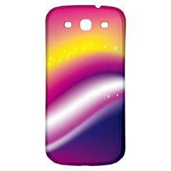 Rainbow Space Red Pink Purple Blue Yellow White Star Samsung Galaxy S3 S Iii Classic Hardshell Back Case by Mariart