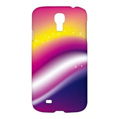 Rainbow Space Red Pink Purple Blue Yellow White Star Samsung Galaxy S4 I9500/i9505 Hardshell Case by Mariart